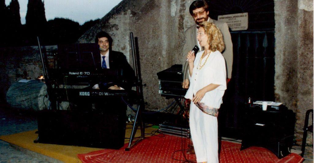 1993 Ostia Antica - Serate al Borgo - Con il musicista Claudio Carbonetti